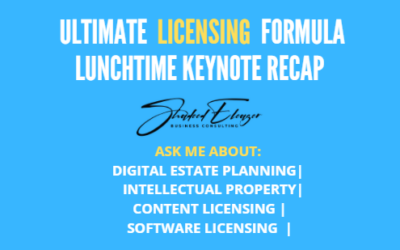 Shadeed Eleazer Delivers Lunchtime Keynote at Ultimate Licensing Formula 3 Day Virtual Conference